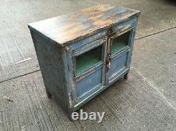 Vintage painted indian teak cabinet