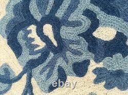 Vintage rug, Handmade rug, Large, Wool Blue 6 x 9