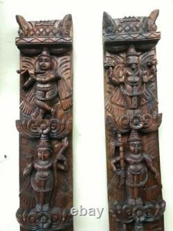Vishnu Avatar Dashavatar Wall Vertical Panel Pair Hindu God panel Vintage Statue
