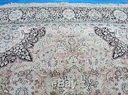 10'x 14' Vintage Hand Made Soie Tapis Cachemire Inde Tapis Grande