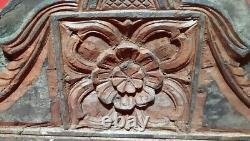 18 Antique En Bois Massif Fleur Beam Rare Vintage Panneau Mural De Fenêtre De Porte
