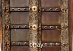 18 C Laiton Fer Fitte Handcrafted En Bois Indien Fort Vintage Fenêtre Porte