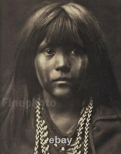 1900/72 Edward Curtis Vintage Native American Indian Girl Mohave Tribe Photo Art