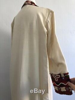 1920 Antique Indien Shisha Soie Brodée Veste De Manteau Mirrorwork Egypte Vtg