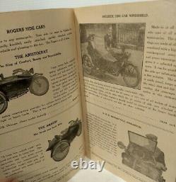 1921 Fournitures De Moto Catalogue Vtg Harley Davidson Indien Excelsior Antique