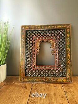 2 Panneaux Fretwork Vintage Indian Jali Work Picture Frames Ornate Decorative