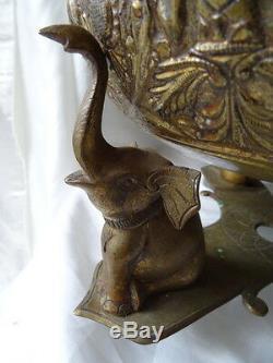 2 Vintage Brass Asiatique Cérémonie Religieuse Incense Temple Du Bouddha Bols