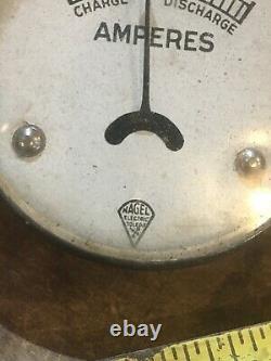 Ammeter Harley Indian Henderson Dash Vintage Moto Antique