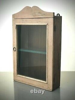 Ancien Cabinet Indien Vintage. Art Déco. Affichage / Salle De Bains. Rose & Turquoise