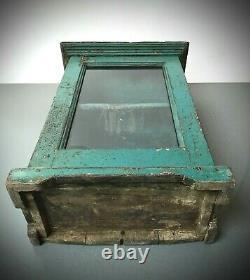 Ancien Cabinet Indien Vintage, Art Déco. Important, Affichage / Salle De Bains. Adolescents