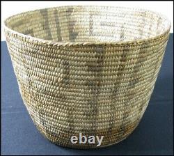 Ancien Vieux Millésime Amérindien Indien Pima Papago Coiled Basket 6 1/2
