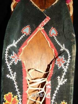 Anciennes Chippewa Ojibwa Indiens Des Régions Boisées Perlée Cradleboard