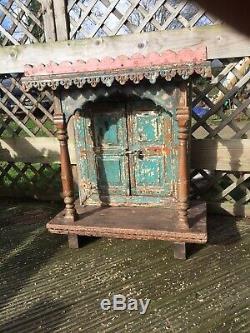 Anciennes Hindou Indien Accueil En Bois Sanctuaire Temple Mandir Shabby Chic