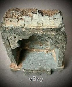 Anciennes Indien Niche Green Quartzite. Murale Huile / Ghee Lamp 19eme