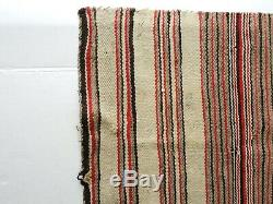 Anciennes Navajo Amérindienne Rug Native Selle Blanket Rayure 29x26