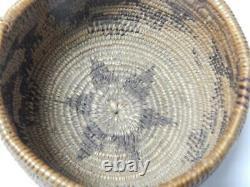 Anciennes Ne Californie Maidu Indien Panier Cadeau C. 1890-1915 Excellent
