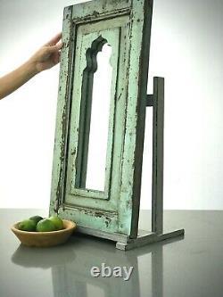 Antiique Vinture Indienne Mirror, Arche Mughale. Sage & Cinnamon. Troisième C. Équipe