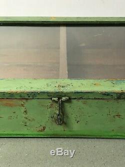 Antique Art Déco Vintage Indien Affichage Salle De Bains Cabinet. Jade & Turquoise