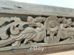 Antique Dragon Wall Hanging Panneau En Bois Sculpté À La Main Yalli Décor Vintage Accueil États-unis