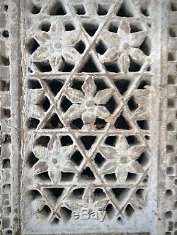 Antique, Grès Mughal Jali. Indian Vintage. Motif Floral Transpercé. Jodhpur