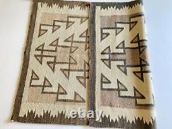 Antique Navajo Rug Amérindienne Amérindienne Tissage Vtg Two Gray Hills 49x35