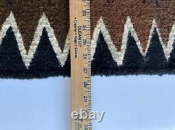 Antique Navajo Rug Amérindienne Indienne Tissage Vintage 46x27 Modèle De Tempête