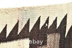 Antique Navajo Rug Large Native Américaine Indienne Tissage Vtg 71x46 Transition
