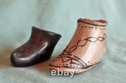 Antique Pueblo Indian Pottery Two Moccasins Cochiti Santa Clara Vintage Indian