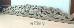 Antique Sculpté À La Main Dragon Wall Hanging Panneau En Bois Yalli Décor Vintage Domaine