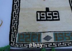 Antique Vintage Amérindien Navajo Tapis Germantown Pictorial Dazzler De