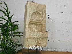 Antique Vintage Architectural Indian Carved Sandstone Niche Candle Holder