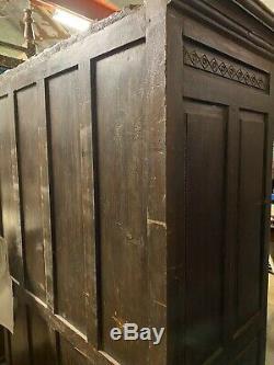 Antique Vintage Cuisine En Bois Indien Chambre Armoire Cabinet Almira