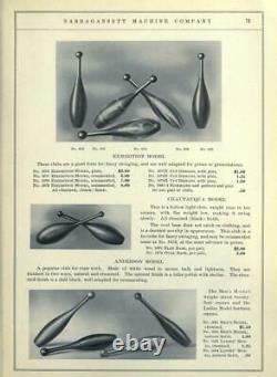 Antique / Vintage En Bois Indien Cirque / Exercice De Jonglerie Pins & Haltères