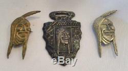 Antique / Vintage Indian Motorcycle Pins Et Montre Fob Livraison Gratuite