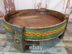 Antique Vintage Indian Spice Grinding Chakki Table Basse De Meubles De Table
