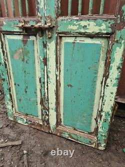 Antique Vintage Industrial Jali Portes Portes Indiennes En Bois