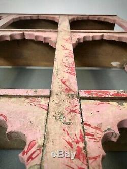 Antique Vintage Meubles Indiens. Arche Énorme Mughal Unité D'affichage. Bébé Rose Et Rouge