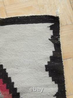 Antique Vintage Navajo Indian Regional Rug Blanket Weaving Lazy Lines Xlnt Color