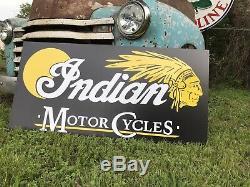 Antique Vintage Old Style Moto Indien Signe
