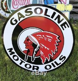 Antique Vintage Old Style Red Indian Oil Motor Signe! 40