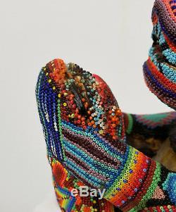 Antique Vintage Perlé Du Guatemala Amérique Du Sud Amérindien Indien Ours