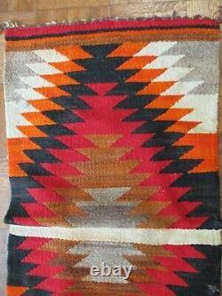 Antique Vintage Petite Navajo Rug Saddle Blanket Native American Indian Art Old