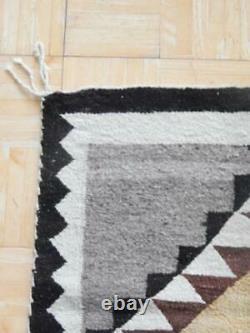 Antique / Vintage Runner Longueur Navajo Indien Burntwater Rug Blanket Weaving