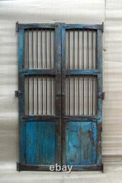 Antique Vintage Rustic Indian Jali Porte Conservée À Partir Du Milieu Des Années 90