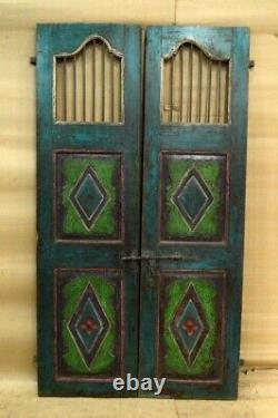 Antique Vintage Rustique Indien Jali Porte Préservée De MID 90