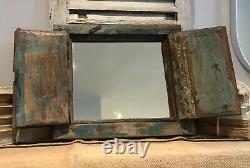 Antique Vintage Salvage Indian Arched Mughal Art Déco Mirror Original