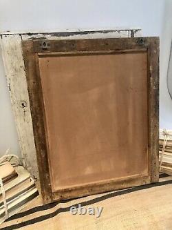 Antique Vintage Salvage Indien Arqué Moghol Art Déco Twin Door Mirror Original