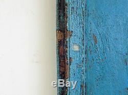 Antique Vintage Worn Peinture De Porte En Bois Indien (ref525)