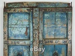 Antique Vintage Worn Peinture De Porte En Bois Indien (ref526)