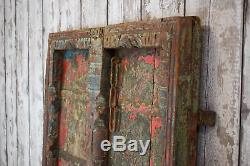 Antique Vintage Worn Peinture Indienne Porte En Bois